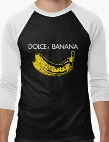 Dolce & Banana - Bananas Lovers Fruitarians Vegan Fashion  Tee / Sticker Men's Baseball ¾ T-Shirt
