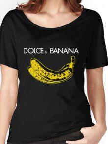 Dolce & Banana - Bananas Lovers Fruitarians Vegan Fashion  Tee / Sticker Women's Relaxed Fit T-Shirt