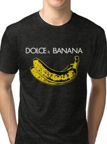 Dolce & Banana - Bananas Lovers Fruitarians Vegan Fashion  Tee / Sticker Tri-blend T-Shirt