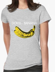 Dolce & Banana - Bananas Lovers Fruitarians Vegan Fashion  Tee / Sticker Womens Fitted T-Shirt
