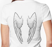 Angel Wings Women's Fitted V-Neck T-Shirt