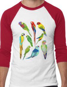 Parrots Men's Baseball ¾ T-Shirt