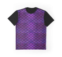 Purple & Blue Mermaid Scales Graphic T-Shirt