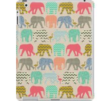 linen baby elephants and flamingos iPad Case/Skin