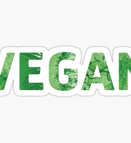 I'm Vegan - Happy Quote Sticker
