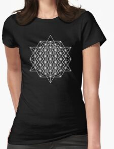 64 star tetrahedron sacred geometry  Womens Fitted T-Shirt