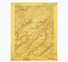 USGS TOPO Map New Jersey NJ Hackettstown 255206 1888 62500 Unisex T-Shirt