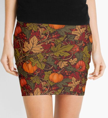 Autumn Pumpkins Mini Skirt