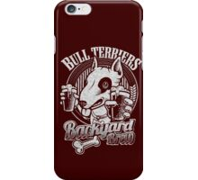 Bull terrier Backyard Brew iPhone Case/Skin