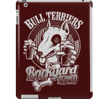 Bull terrier Backyard Brew iPad Case/Skin