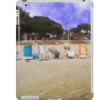 Beach with empty  chairs near St. Tropez iPad Case/Skin