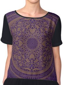 Indigo Home Medallion  Chiffon Top