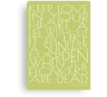 Wilde - Keep Love - Typography Canvas Print