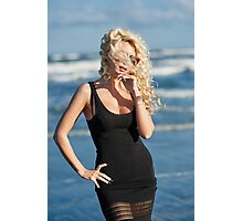 Sexy woman on the sea shore Photographic Print