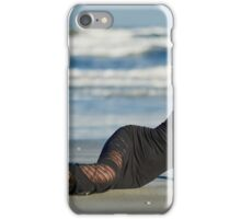 Beautiful woman on the beach iPhone Case/Skin