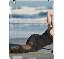 Beautiful woman on the beach iPad Case/Skin