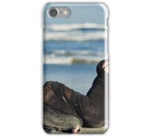 Beautiful woman on the beach iPhone Case/Skin