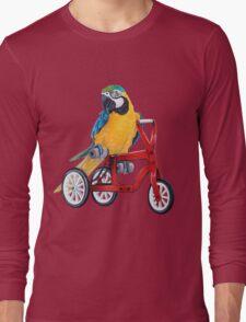 Parrot Macaw bike red Long Sleeve T-Shirt