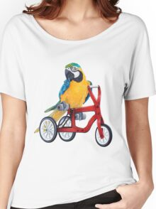 Parrot Macaw bike red Women's Relaxed Fit T-Shirt