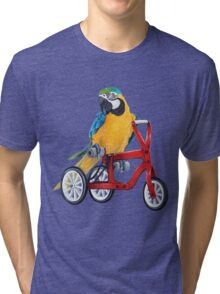 Parrot Macaw bike red Tri-blend T-Shirt