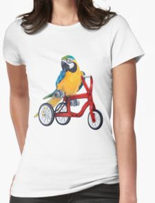 Parrot Macaw bike red Womens Fitted T-Shirt