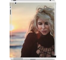 Beautiful woman on the beach at sunrise iPad Case/Skin