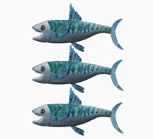 Three Little Fishes Baby Tee