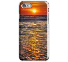 Colorful sunrise over the sea iPhone Case/Skin