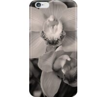 Orchids - Black and White iPhone Case/Skin