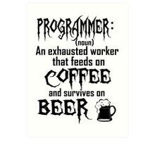 Programmer Art Print