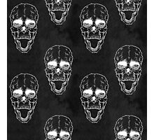 Terrible frightening seamless pattern with skull Photographic Print
