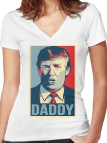 Donald Trump 'Daddy' Store - Milo Yiannopoulos Women's Fitted V-Neck T-Shirt