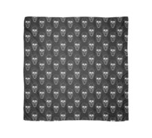 Terrible frightening seamless pattern with skull Scarf