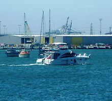 Enjoying a trip on Corio Bay - Geelong. Vic. by EdsMum