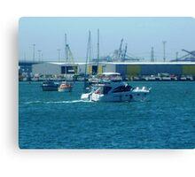 Enjoying a trip on Corio Bay - Geelong. Vic. Canvas Print