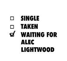 Waiting For Alec Lightwood Photographic Print