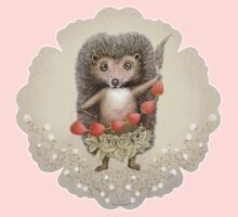 Animal Hedgehog Strawberry One Piece - Short Sleeve