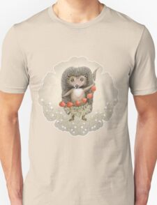 Animal Hedgehog Strawberry T-Shirt