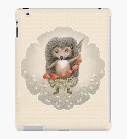 Animal Hedgehog Strawberry iPad Case/Skin