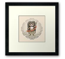 Animal Hedgehog Strawberry Framed Print