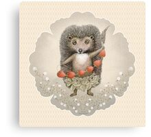 Animal Hedgehog Strawberry Canvas Print