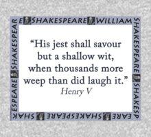 His Jest Shall Savour - Shakespeare Kids Tee