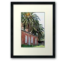 Palms Over Brick Cottage Framed Print