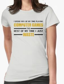 Computer Gaming Womens Fitted T-Shirt