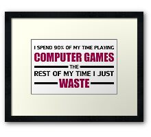 Computer Gaming Framed Print