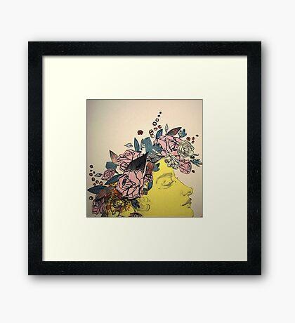 Flora and her Kartinkamqass Framed Print