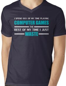 Computer Gaming Mens V-Neck T-Shirt