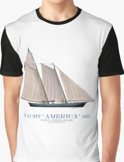 Yacht America 1851 - Tony Fernandes Nautical Graphic T-Shirt