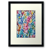 Abstract floral painting Framed Print