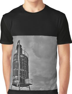Rusted Industrial Tank b&w Graphic T-Shirt